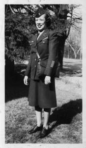 Evelyn Whitlow in uniform after World War II. Photo, NC Museum of History
