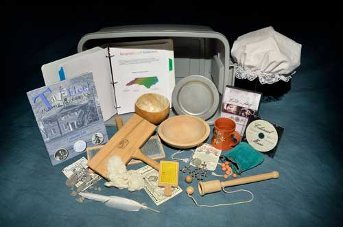 History-in-a-Box, by the North Carolina Museum of History: Colonial North Carolina kit